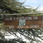 Entrance sign - Serengeti National Park