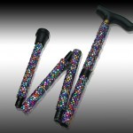 sparkly folding walking stick